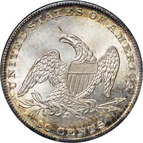 1837 50C MS reverse