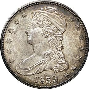 1839 O 50C MS obverse