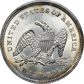 1839 NO DRAPERY 50C MS reverse