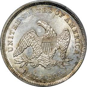 1839 DRAPERY 50C MS reverse