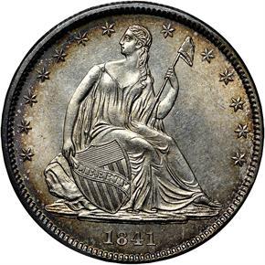 1841 50C MS obverse