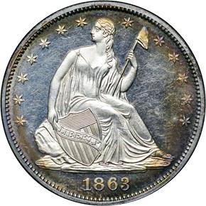1863 50C PF obverse