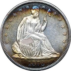 1870 50C PF obverse