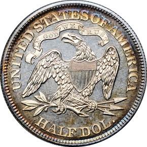 1870 50C PF reverse