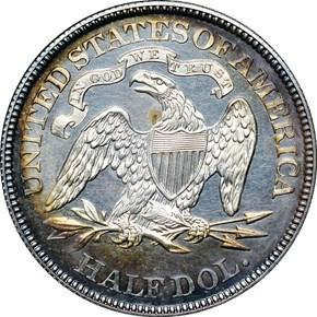 1873 CL 3 NO ARROWS 50C PF reverse