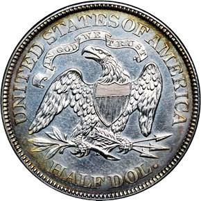 1873 ARROWS 50C PF reverse