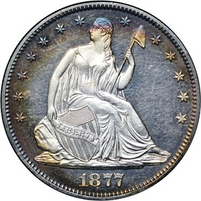 1877 50C PF obverse