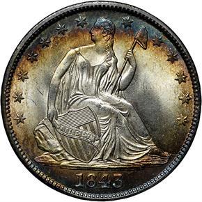 1843 50C MS obverse