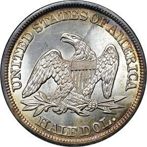 1843 50C MS reverse