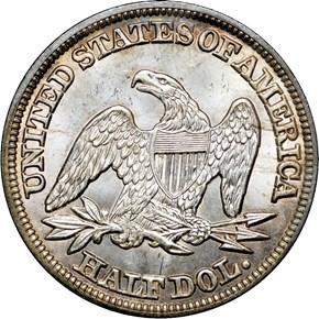 1846 MEDIUM DATE 50C MS reverse