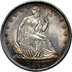 1849 50C MS obverse