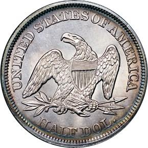 1849 50C MS reverse
