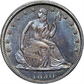 1850 50C MS obverse