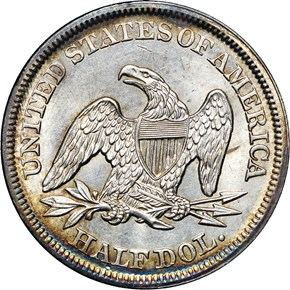 1851 50C MS reverse