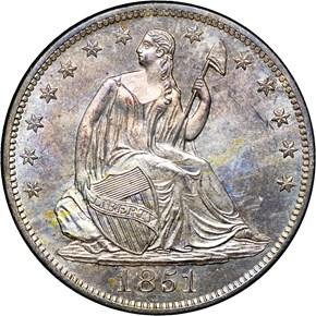 1851 O 50C MS obverse