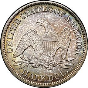 1854 ARROWS 50C MS reverse