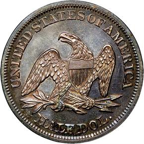 1855 ARROWS 50C PF reverse