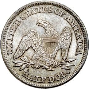 1855 ARROWS 50C MS reverse