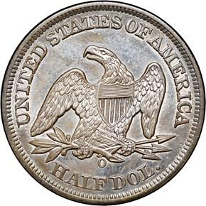 1856 O 50C MS reverse