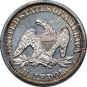 1858 50C PF reverse