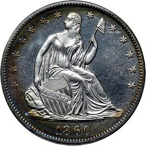 1860 50C PF obverse