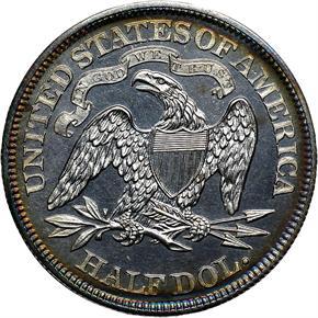 1866 MOTTO 50C PF reverse