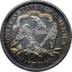 1869 50C PF reverse