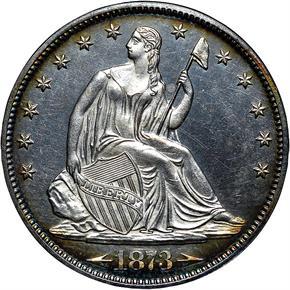 1873 ARROWS 50C PF obverse