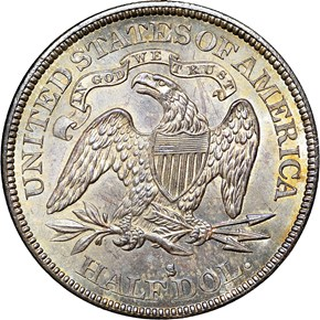 1874 S ARROWS 50C MS reverse