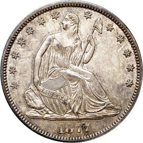 1877 CC 50C MS obverse