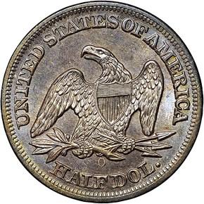 1851 O 50C MS reverse