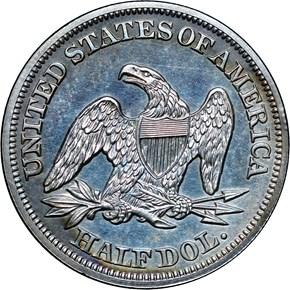 1856 50C PF reverse