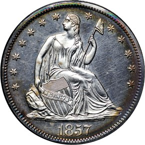 1857 50C PF obverse