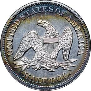 1857 50C PF reverse
