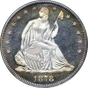1878 50C PF obverse