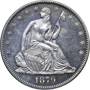1879 50C PF obverse