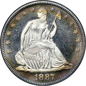 1887 50C PF obverse