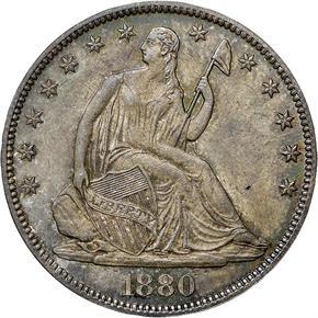 1880 50C MS obverse