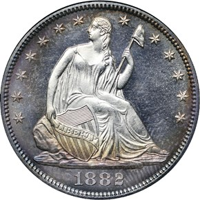 1882 50C PF obverse