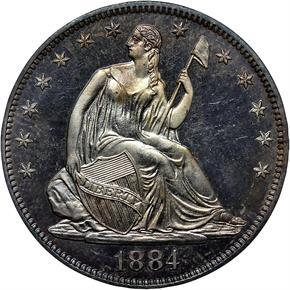 1884 50C PF obverse