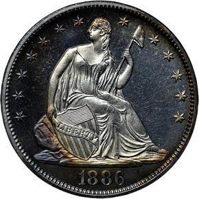 1886 50C PF obverse