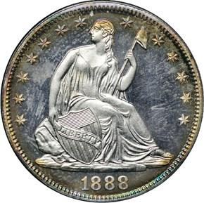 1888 50C PF obverse