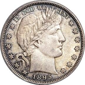 1895 50C MS obverse