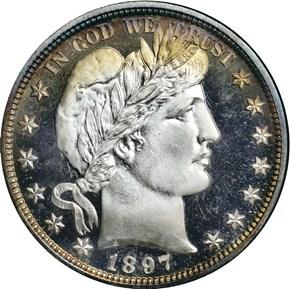 1897 50C PF obverse