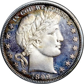 1899 50C PF obverse