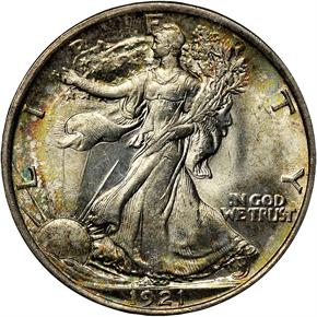 1921 50C MS obverse
