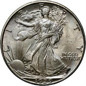 1929 D 50C MS obverse