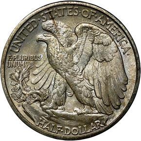 1929 D 50C MS reverse