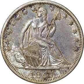 1847 O 50C MS obverse