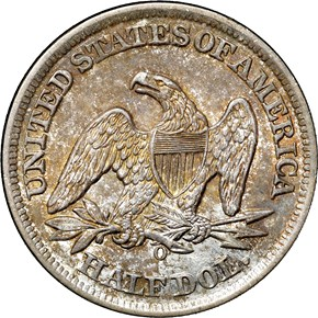 1859 O 50C MS reverse